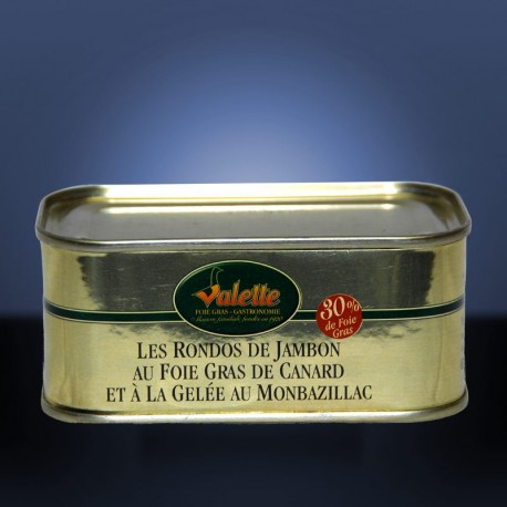 Rondos de jambon au foie gras de canard