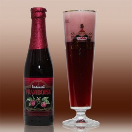 2 bouteilles Framboise Lindemans 25cl